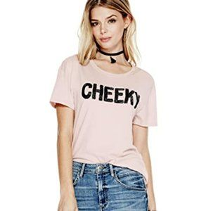 NWT GUESS By Marciano Pink Cheeky Tee Shirt